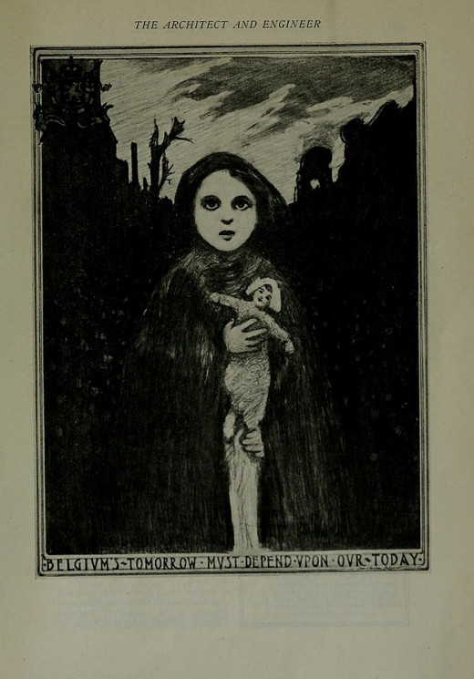 1917 Belgian relief poster.