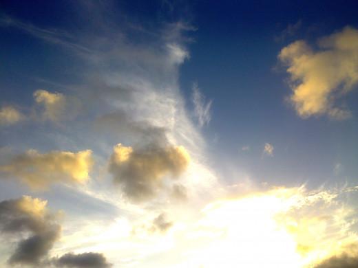 A brilliant sky I had to snap.