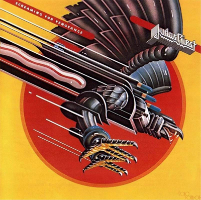 "Doug Johnson airbrushed acrylic Judas Priest ""Screaming Vengeance"""
