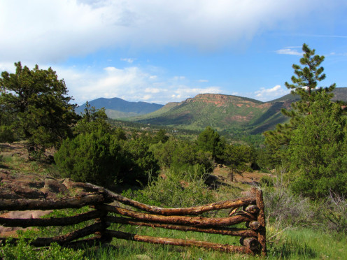 View from a trail at the Hall Ranch Open Space in Boulder County, Colorado.