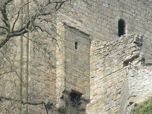 Garderobe, Peveril Castle, Derbyshire, UK