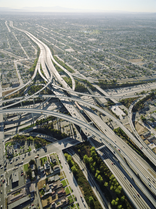 Imagine how much sand went into building the concrete - and asphalt, which uses sand - for the interstate highway system...