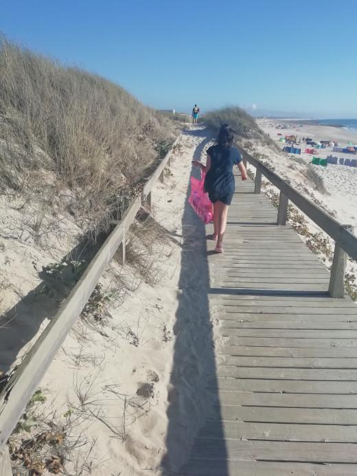 Photo of my daughter walking along the beach. Taken last year.