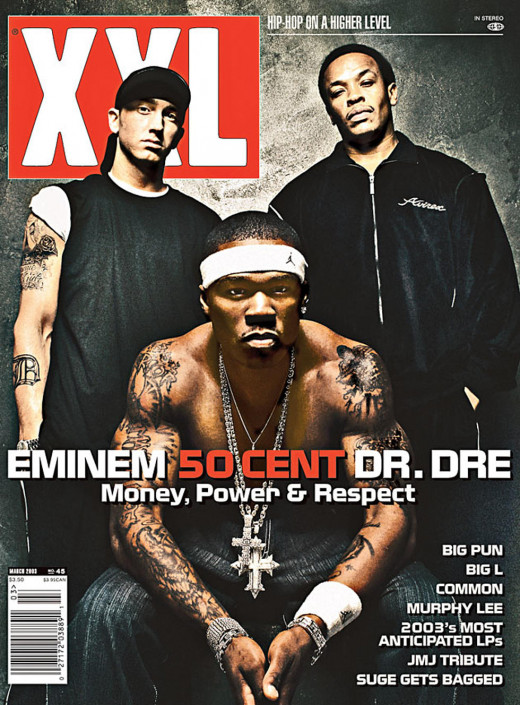 XXL cover promoting Get Rich Or Die Trying