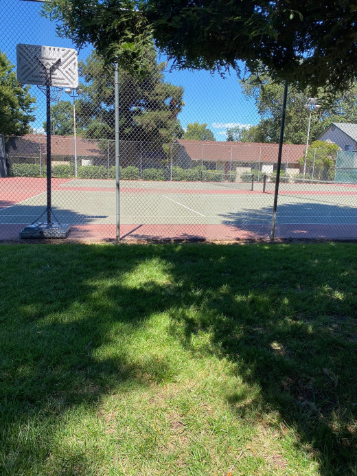 Many apartment complexes have fun amenities like tennis courts and basketball courts.
