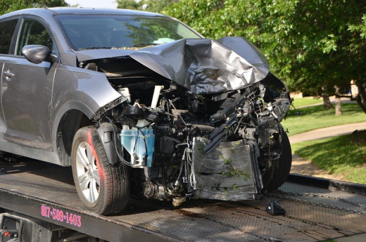 This picture obviously does not portray minor damage. You might need to file a claim if you sustained this kind of damage to your vehicle.