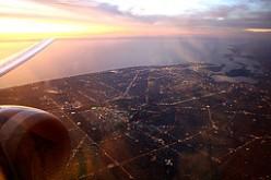 Sunset over Adelaide, Australia.