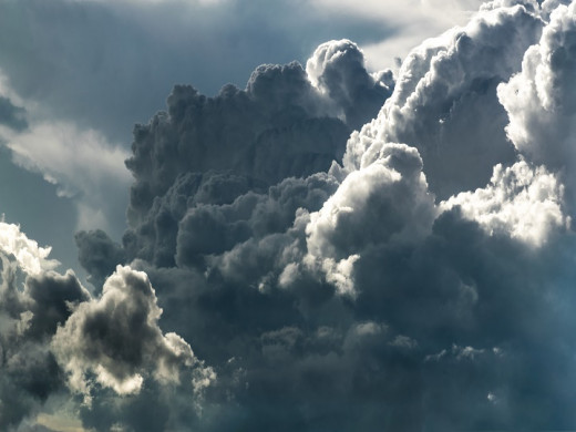 A swarm of clouds in the sky