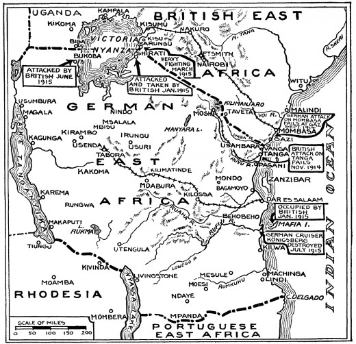 A contemporary map of the campaign published in a newspaper.