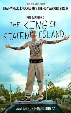 Pete Davidson on the cover of the promotional poster for the movie The King of Staten Island.