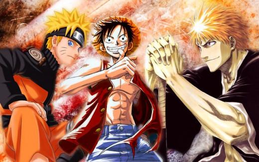Naruto-Luffy-Ichigo: the three protagonist