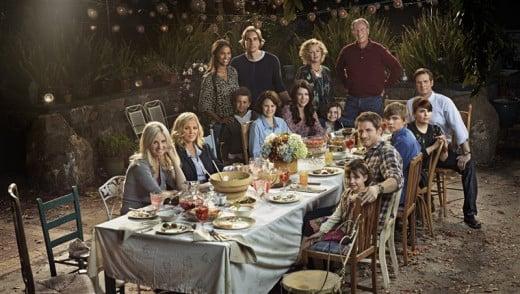 The Braverman family around the dinner table