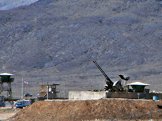 Anti-aircraft guns at Natanz facility.