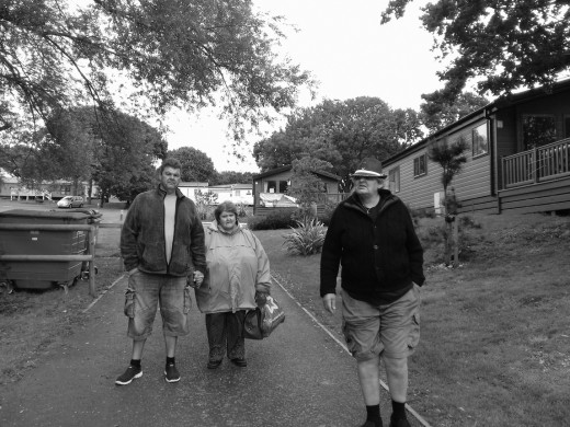 'Other half' With his brother Ted and older sister Jane.  copyright photos Nell Rose Loveridge.