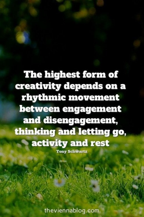 Ebb and flow of your creative juices is normal and natural. Let it be, and enjoy the rest periods, as they lead to creative blossom periods.