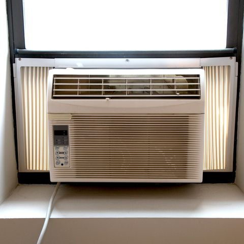 A window air conditioner unit can keep your room cool.