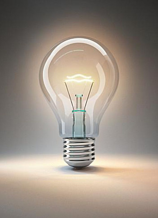 A light bulb allows us to have light in our homes