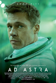 Brad Pitt on the cover of the theatrical release and promotional poster for his movie Ad Astra!