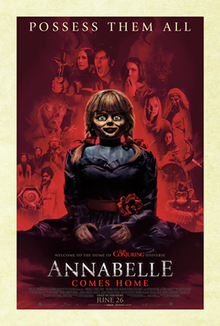 Annabelle Comes Home promotional and theatrical release movie poster.