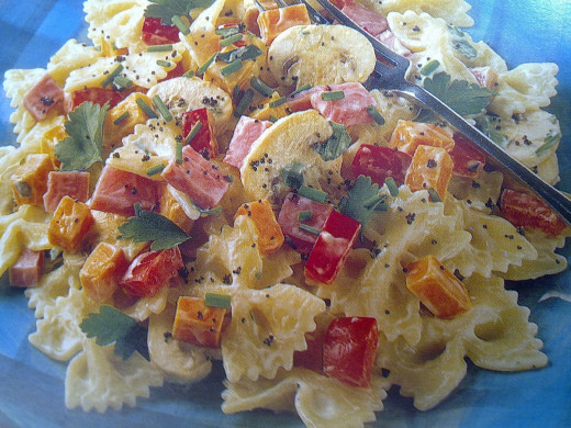 pasta bow salad
