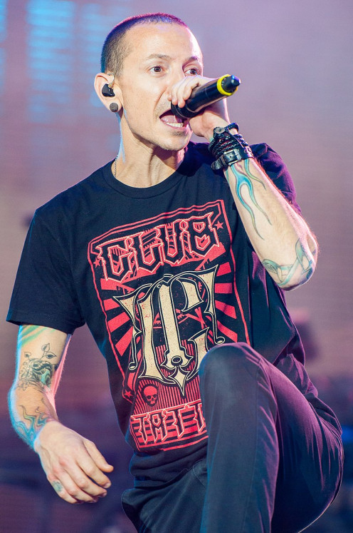 Fig. 2. Chester Bennington, the lead singer of Linkin Park, an American rock band
