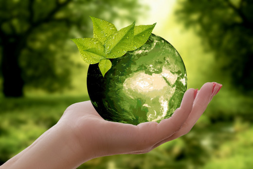 Recycling is one way to take care of the earth.