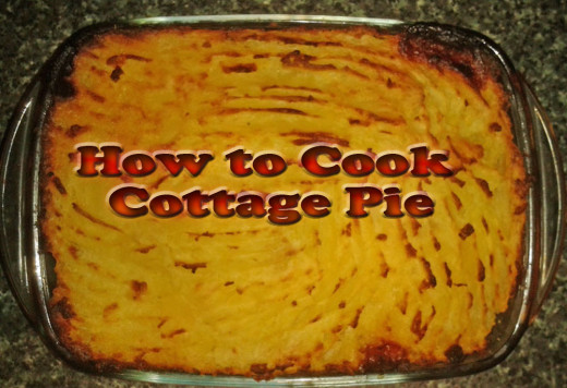 Cottage Pie Just Out of the Oven