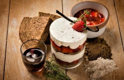 Cream and Strawberries in the Thyme, a Joy for the Palate