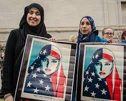 Women fighting for their representation, not as religious people, or women, but as humans.