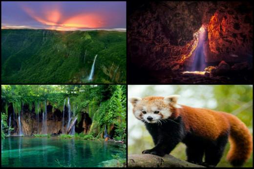 Different places of Cherrapunji, Meghalaya