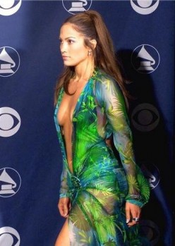 J.Lo Versace Green Dress