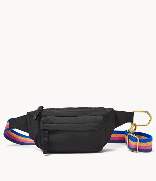 Use a small handbag or a fanny pack to carry more immediate and important things
