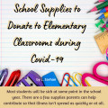 Supplies to Donate to Elementary Classrooms During the Covid-19 Pandemic