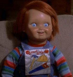 The Good Guy Doll used for the original Child's Play film back in 1988. Fun Fact: Chucky the Killer Doll was based on another doll named Robert that is said to be haunted.