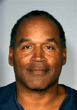 O.J. Simpson, in a Las Vegas police booking photo