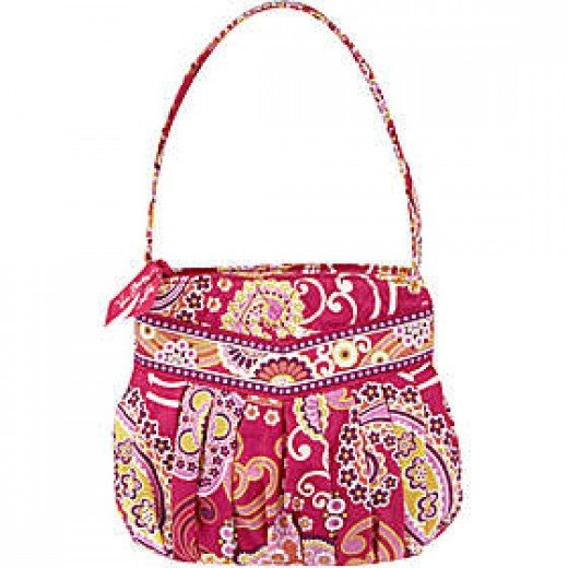 "The print that this Vera Bradley purse is made from is called ""Hannah."""
