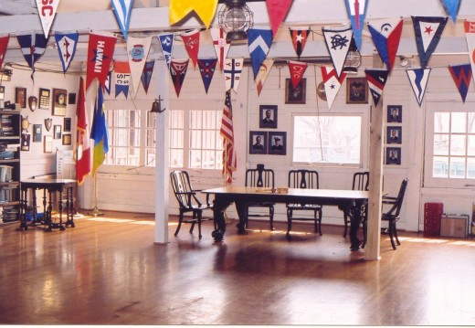 Crescent Sail YC Meeting Room designed by Albert Kahn for Henry Joy