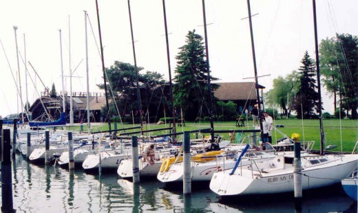 /Express 27 Fleet at Crescent Sail YC