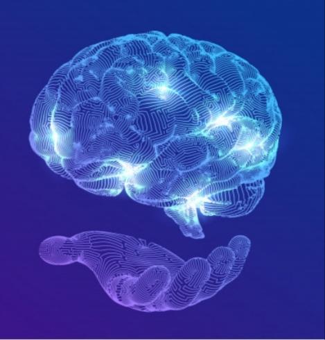 Fictional representation of a digital brain