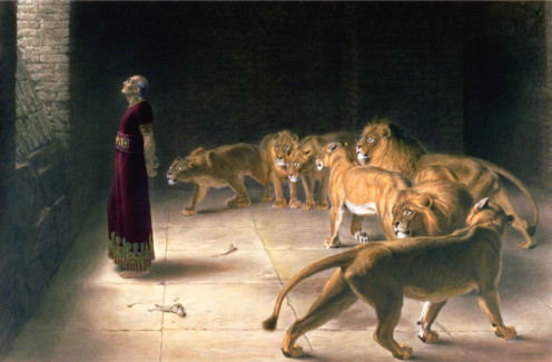 """""""Daniel's Answer to the King"""" Thomas Agnew and Sons 1892"""