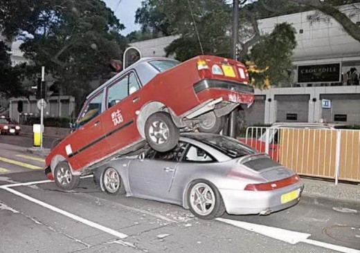 CAR RIDES THE CAR- AN ACCIDENT