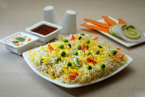Vegetable Pulao is ready to serve.