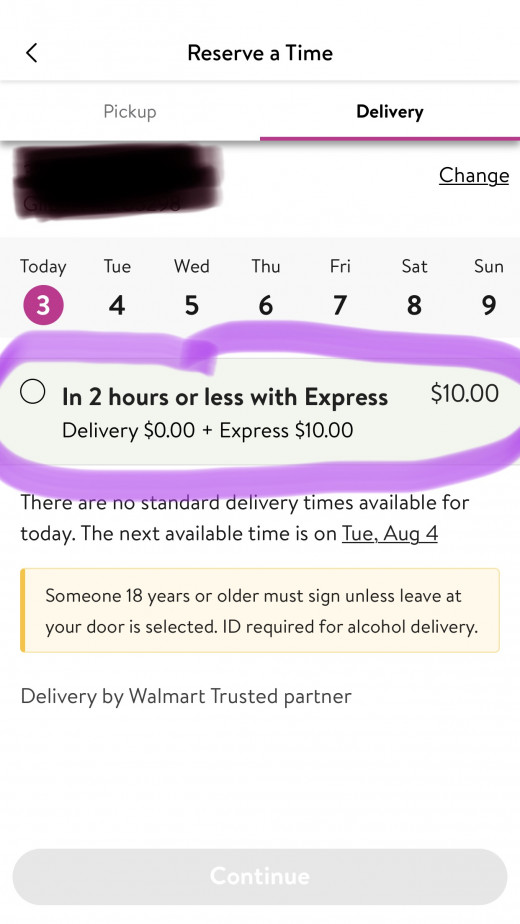 Walmart delivery saves lives!