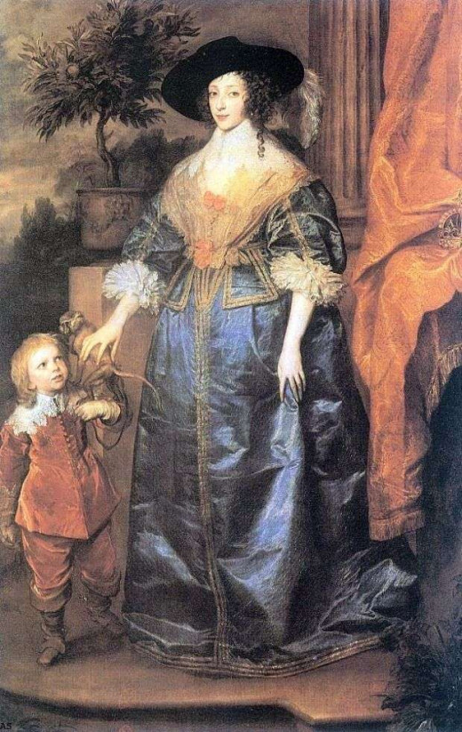 Queen Henrietta and  Jester Jeffrey Hudson