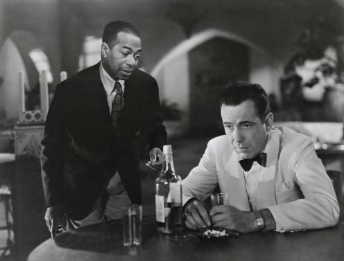 Dooley Wilson and Humphrey Bogart in Casablanca