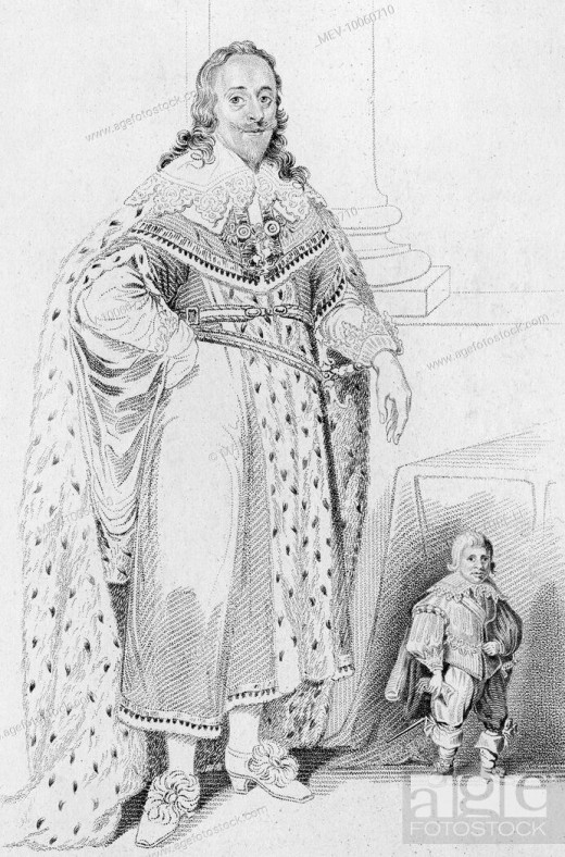 King Charles and Jeffrey Hudson
