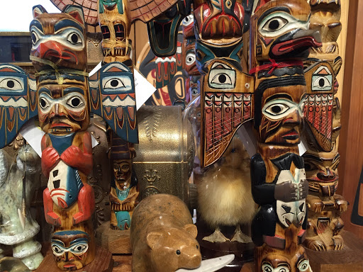 Collection of Haida Totems