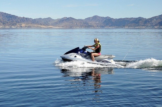 Mom on a Jet Ski