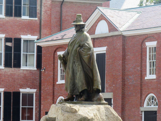 Statue of Roger Conant, a colonist and established of Peabody, Salem and Danvers.