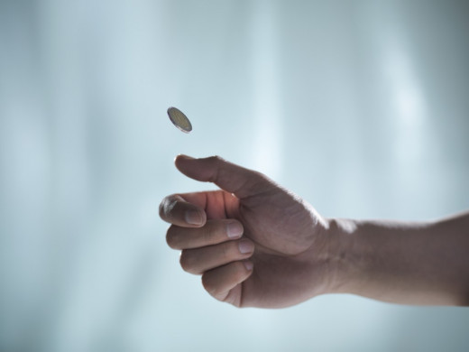 Flipping a penny.